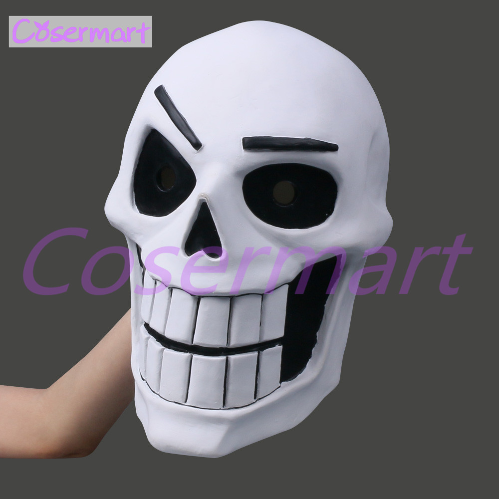 Hot Game Undertale Mask Hard Latex Cosplay Papyrus helmet Full Head Masks Halloween Party Prop (3)