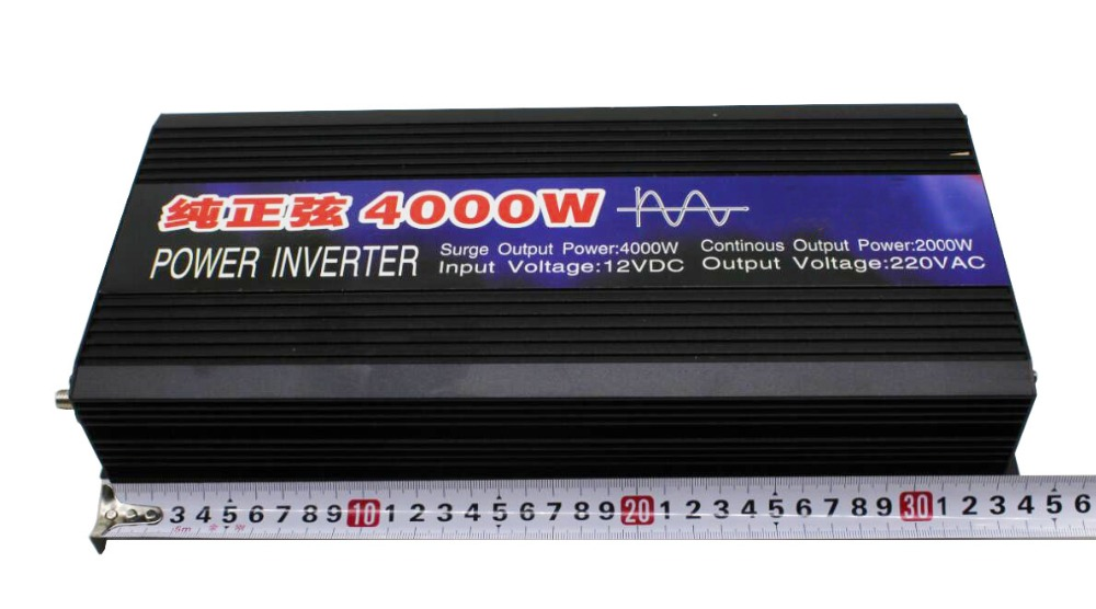 DHL delivery Pure Sine Wave Car Power Inverter 4000W Dc12v 24v To Ac 220v Car Converter Inverters For Solar Boat Home Appliances in Inverters Converters from Home Improvement