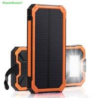 PowerGreen Projekt Karabinek Mini Banku Mocy 15000 mAh Festiwal Prezent Ładowarka Baterii Słonecznych Ogniw Słonecznych Banku na Telefon komórkowy