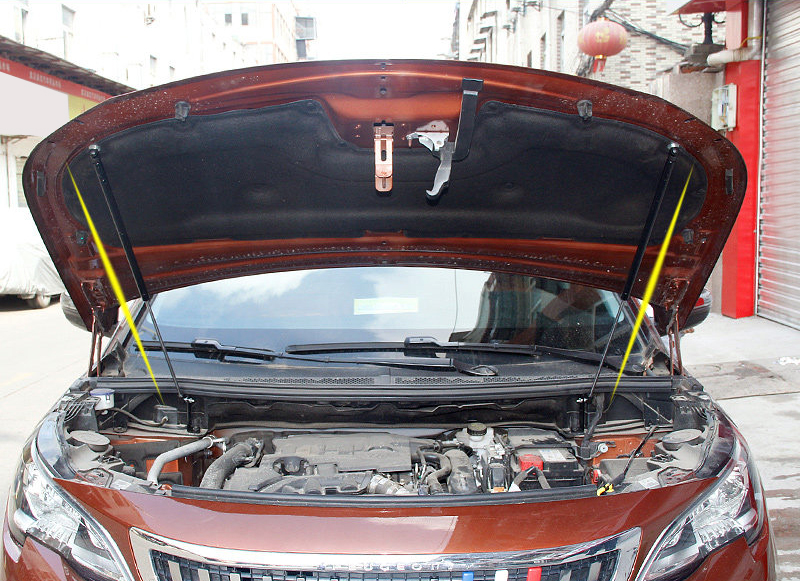 Car Styling Front Engine Cover Lift Supporting Spring Shock Hydraulic Rod Strut Bars For Peugeot 3008 5008 2017 2019