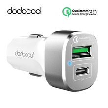 dodocool USB Car Quick Charger, 2 Port QC3.0 Charger and USB-C Output Charging Qualcomm QC3.0 Car Charger For HTC LG Xiaomi