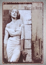 1 piece Marilyn Monroe Actress celebrity Tin Plate Sign wall Room man cave Decoration Art Dropshipping Poster metal цена
