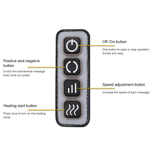 Image 2 - Electric foot massager roller Massage Machine fashion leather massager for back foot Infrared With heating Shiatsu Kneading