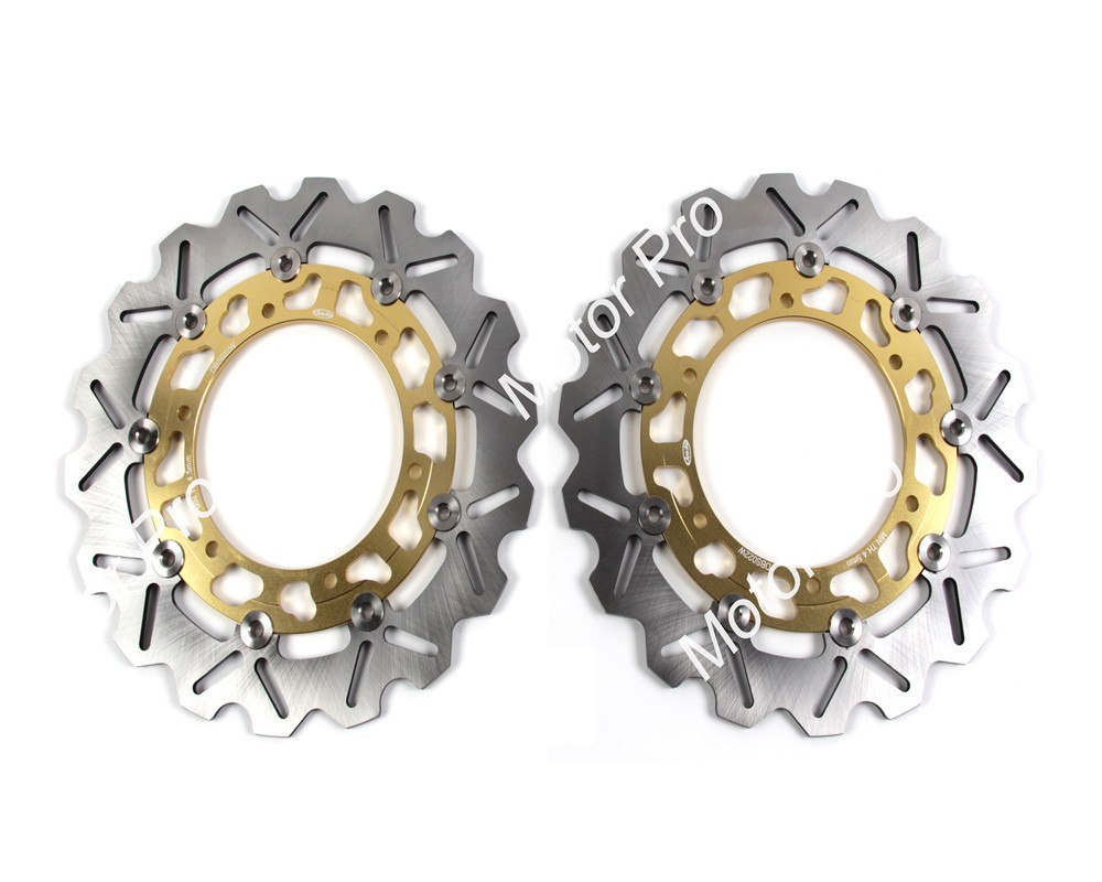 2 PCS CNC Motorcycle Front Brake Disc FOR YAMAHA TDM 900 2002 2003 2004 2005 2006 2007 2008-2014 BT1100 BULLDOG brake disk Rotor