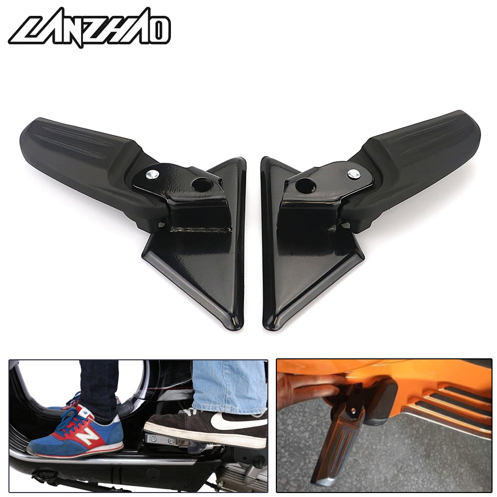 Pair Aluminum Motorcycle Rear Passenger Foot Peg Steps Foldable Pedals Footrests Black for Vespa VESPA LX S LX V 2017 2018Pair Aluminum Motorcycle Rear Passenger Foot Peg Steps Foldable Pedals Footrests Black for Vespa VESPA LX S LX V 2017 2018