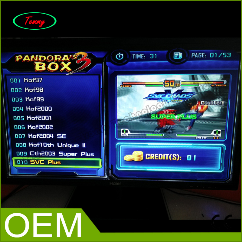 Pandora's Box 3 multi game board PCB,VGA or CGA output jamma pcb 520 in 1 for arcade game machine