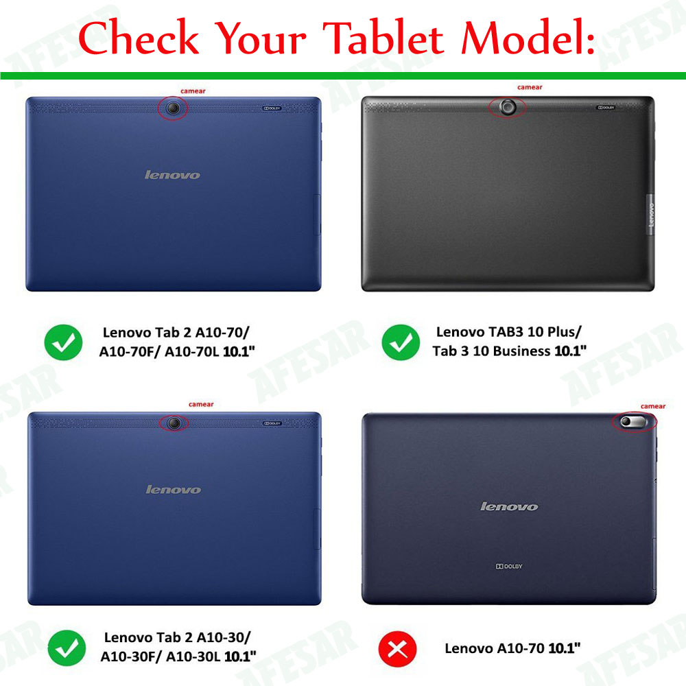 huge discount f9de1 fa2e5 US $9.01 18% OFF|Cover for Lenovo TAB 2 A10 / Tab 3 10 Business Case Ultra  Slim Lightweight Smart Cover Auto Wake for Lenovo Tab3 10 Plus 10.1-in ...