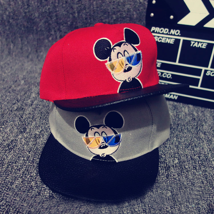 Baby Kids Boy Girl Fashion Mickey Hat Baseball Cap Accessoire Bonnet Bebes Chapeau Garcon Fille Touca Gorro Sun Hat chemo skullies satin cap bandana wrap cancer hat cap chemo slip on bonnet 10 colors 10pcs lot free ship