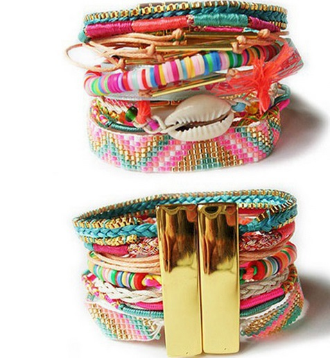 2017 High Quality Ish Summer Style Hipanema Bracelet Multi Layered Brazilian With Magnet Friendship Bracelets