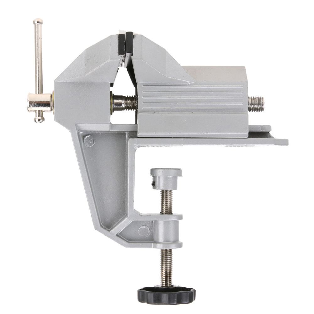 Aluminium Alloy Bench Vise Universal Machine Mini Fixed Repair Tool Aluminium Alloy Table Vice Fixed Jaw Screw Firmly Hand Tool  mini table vice aluminium alloy bench vise universal machine mini fixed repair tool widely used for diy craft clamp vise