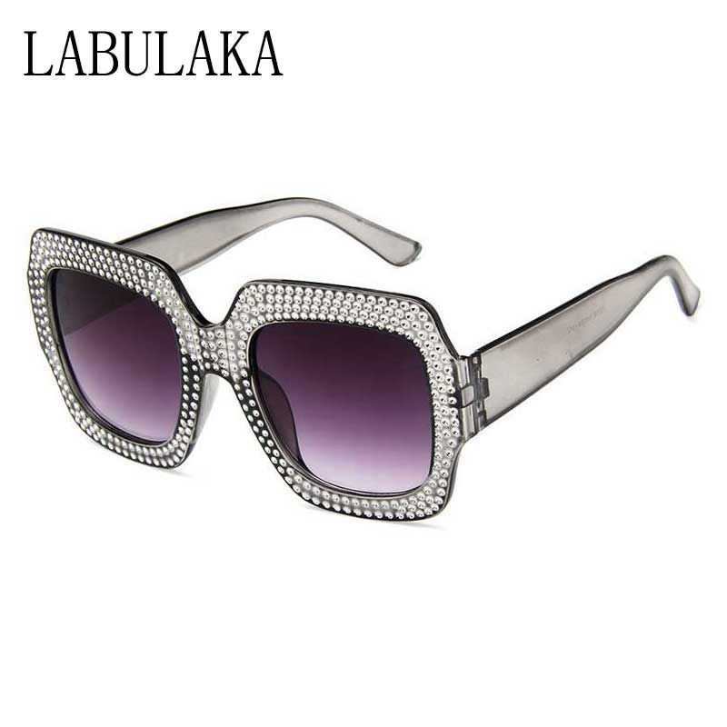 621c1895ffc Rhinestone Sunglasses Women 2018 Fashion Oversized Diamond Square Frame  Crystal Sun Glasses Ladies Luxury Vintage Shades Eyewear-in Sunglasses from  Apparel ...