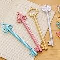 Мм 0,38 мм Винтаж розовое золото ключ гелиевая Ручка Kawaii пластик ручки для детей подарок школьные принадлежности Novely пункт корейский канцелярские - фото
