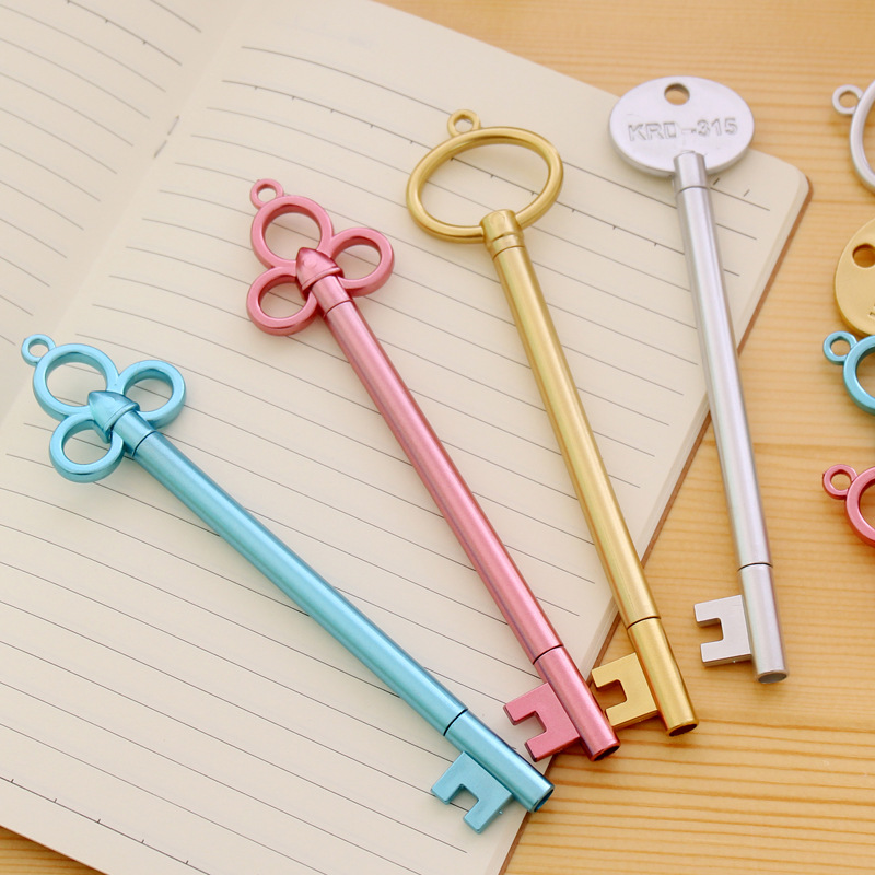 0.38mm Vintage Key Plastic Gel Pen Creative Cute Kawaii Pens For Kids Novely Item School Supplies Free Shipping 2478 wisan комплект штор для кухни