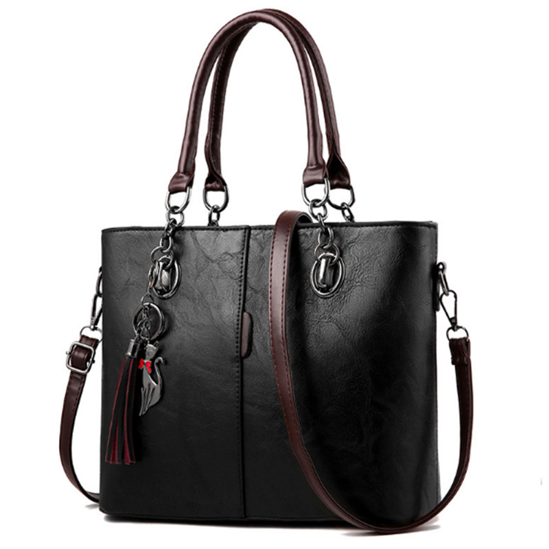 New Bags for Woman Elegant Classic Fashion Ladies Handbags Solid Color Casual Totes Shoulder Message Bag for Girls in Shoulder Bags from Luggage Bags