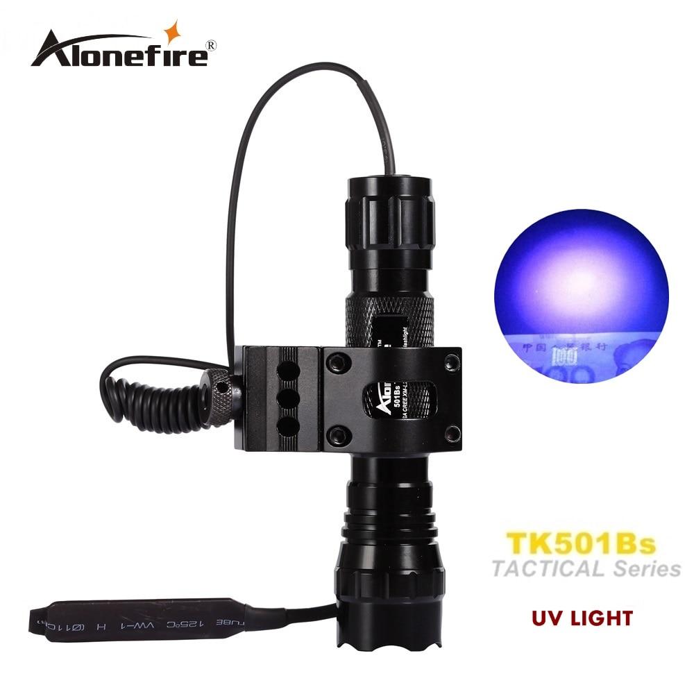 501B UV light Tactical Flashlight Pistol Handgun Torch Light Handheld Flashlights+gun scope baese mount+remote pressure switch