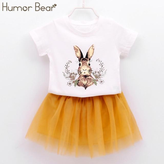 b6bea974c Aliexpress.com   Buy Humor Bear Children Clothes Girls Dress 2018 ...