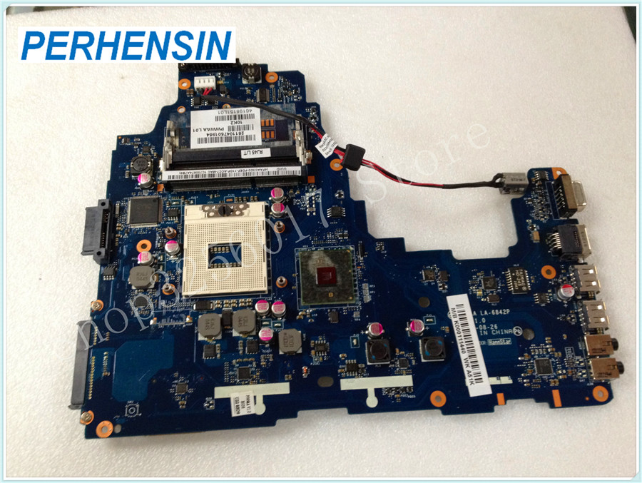 FOR TOSHIBA FOR SATELLITE C660 LAPTOP MOTHERBOARD K000111440 PWWAA LA-6842P 100% WORK PERFECTLY