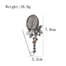 CINDY XIANG New Vintage Big Resin Flower Pin Brooches for Women Elegant Scarf Buckle Coat Corsage Large Fashion Accessories Gift