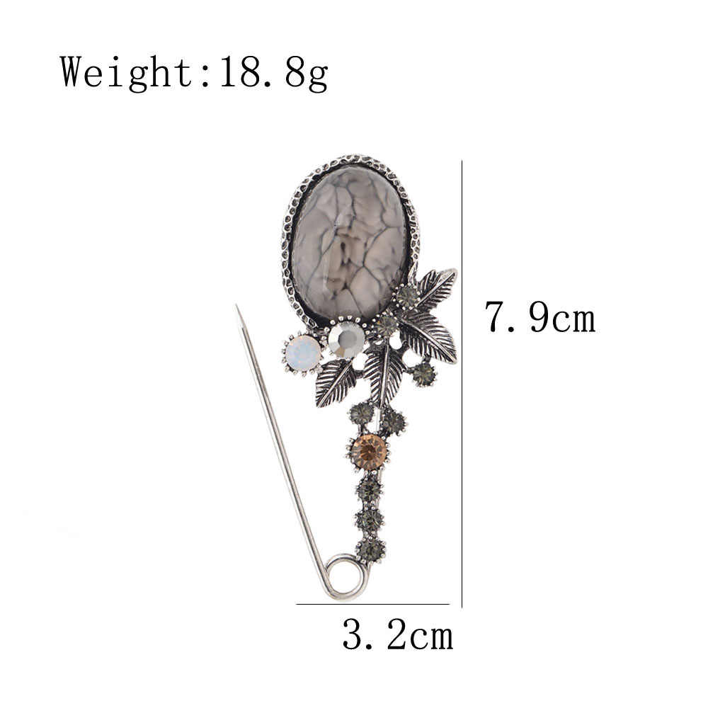 Cindy Xiang Baru Vintage Big Resin Bunga Pin Bros untuk Wanita Elegan Syal Gesper Mantel Korsase Besar Fashion Aksesoris Hadiah