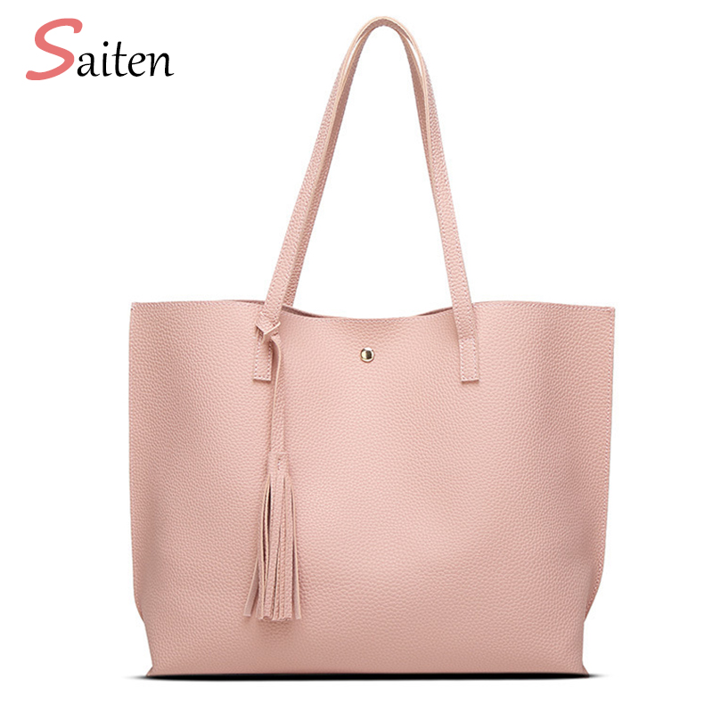 все цены на  New Bag Luxury Brand Women Shoulder Bag Soft Leather Top-Handle Bags Ladies Tassel Tote Handbag High Quality Women's Handbags  в интернете