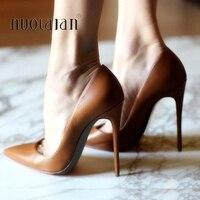 Brand Shoes Woman High Heels Ladies Shoes 12CM Heels Pumps Women Shoes High Heels Sexy Black Brown Dress Party Shoes Stiletto