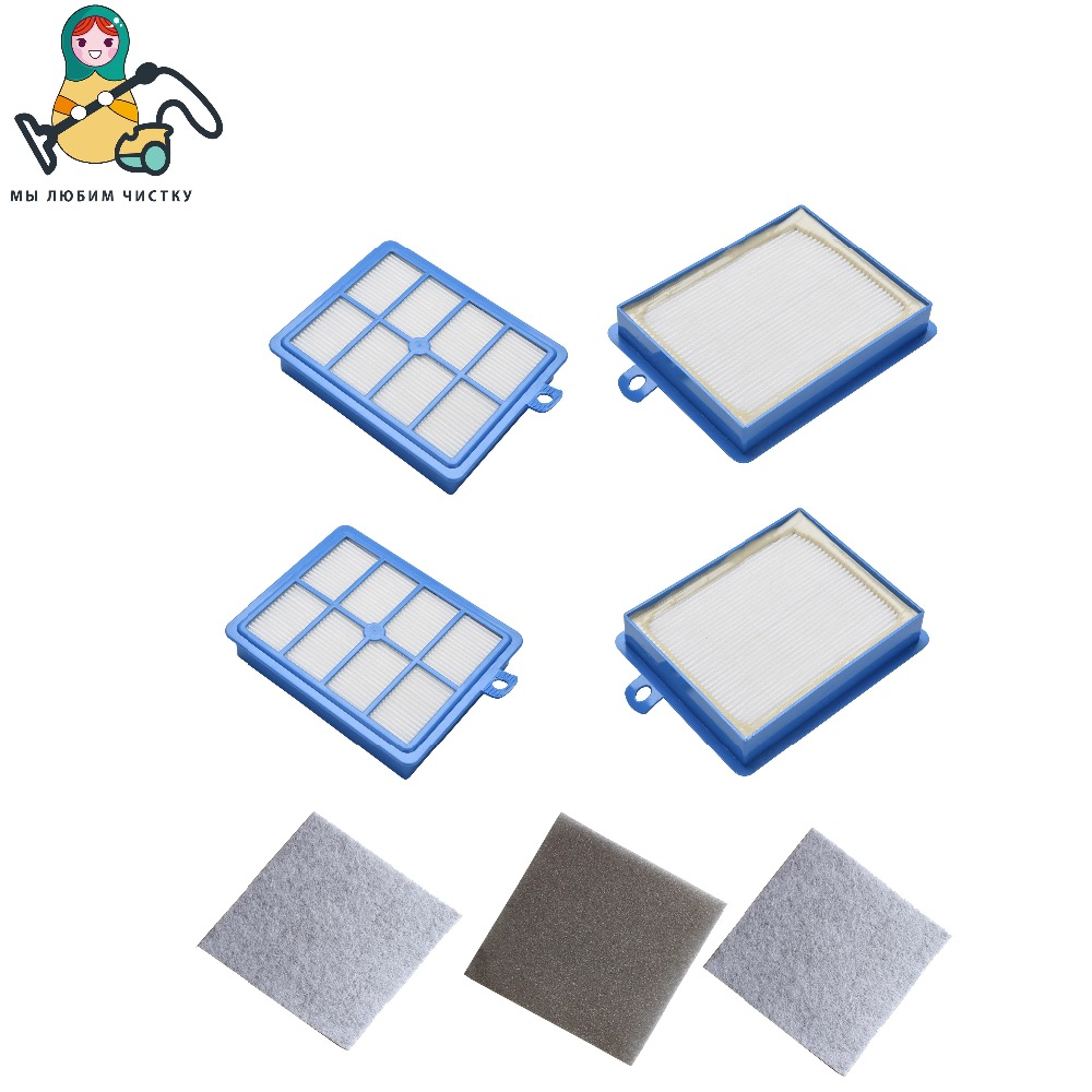 цены CLEAN DOLL 4PCS/LOT HEPA FILTER motor cotton for Philips Performer FC9174 FC9150 FC9170 FC9195 FC8031 vacuum cleaner filter