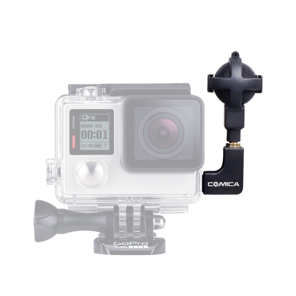 CoMica CVM VG05 Professional GoPro Microphone For Sports Action Cameras Double Mics Ball shaped Stereo Video