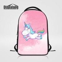 Women Laptop Backpack For 14 Inch Notebook Computer Bagpack Pretty Pink Unicorn School Bag Bookbag For Teenage Girls Backpacking