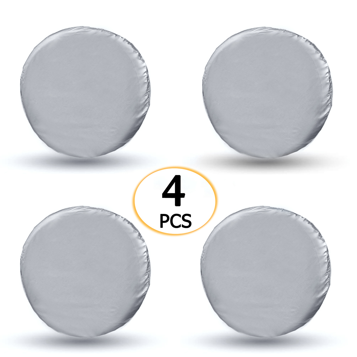 4pcs Tyre Cover Car Auto Wheel Tire Cover Bag For Truck Trailer RV Camper Motorhome Waterproof Dustproof Silver Tire Bag