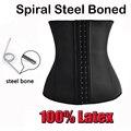 Top body steel bones shapers  Waist Trainer Latex Waist Cincher Women Rubber Waist Trainer Corsets underbust Slimming Belt