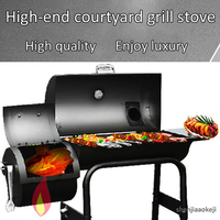 Household Charcoal Barbecue Grill BBQ stove Thicker Large Barbecue Grill For 6-7 People Outdoor Garden Courtyard Villa Hotel