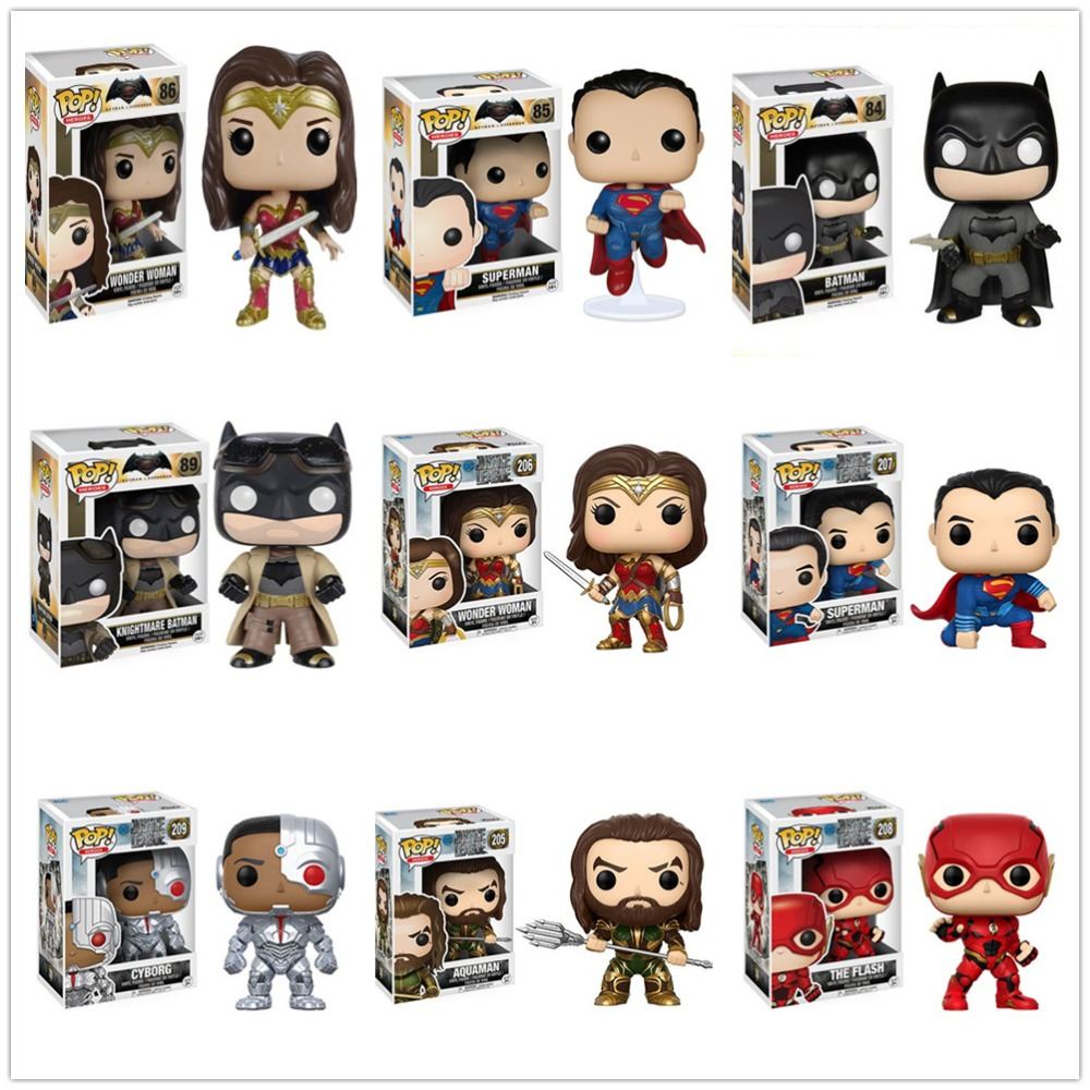 Funko POP Justice League Hero Wonder Woman Aquaman The Flash Model Figure Collection Model Toy Gifts