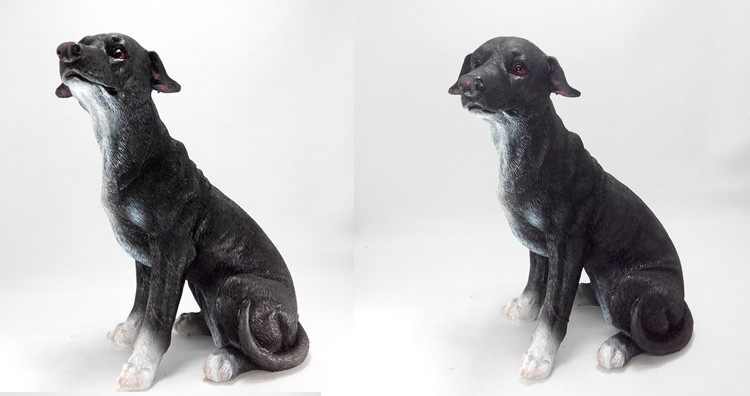 19*12*23cm Creative Resin Dog Sculpture Crafts Ornaments Home Furnishings Hotel Garden Decoration Artificial Greyhound Dogs