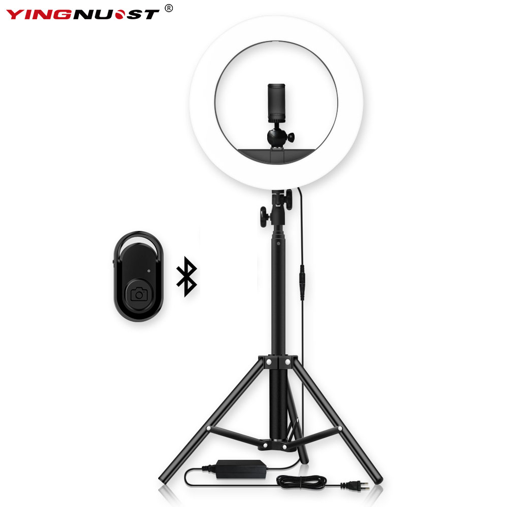 Dimmable LED Selfie Ring Light 14'' Photography Ring Lamp with 1.6M Tripod for Beauty Makeup Photo Studio lighting Live Stream