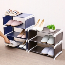 цена Modern Non-woven Fabric Storage Shoe Rack removable door shoe cabinet shelf Organizer Stand Holder Keep Room tidy Saving Space онлайн в 2017 году