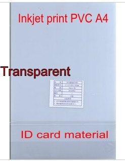 Visitenkarte Mitgliedskarte 300x200mm 0,76mm Dicke Hart Arbeitend Transparent Leere Inkjet-druck Pvc-folie Für Pvc Id Karte Machen
