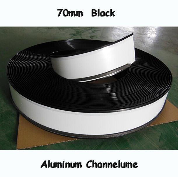 70mm Channelume Led Sign Letters Aluminium Channel Letter Signs Trim Cap 3D Luminous Letters Making Material