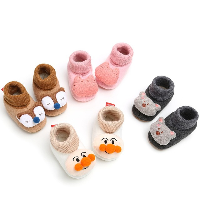 06931d45e8ecb US $6.02 30% OFF|Winter Cute Cat Animal Style Baby Boots Fleece Worm Cotton  padded Shoes Baby Booties Wholesale 0 18 Month Infant Toddler Shoes-in ...