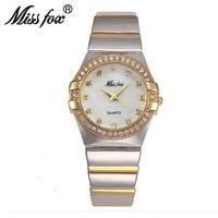 Miss Fox Diamond Scale Woman Luxury Quartz Watch Top Brand Waterproof Gold Fashion Women S Watch
