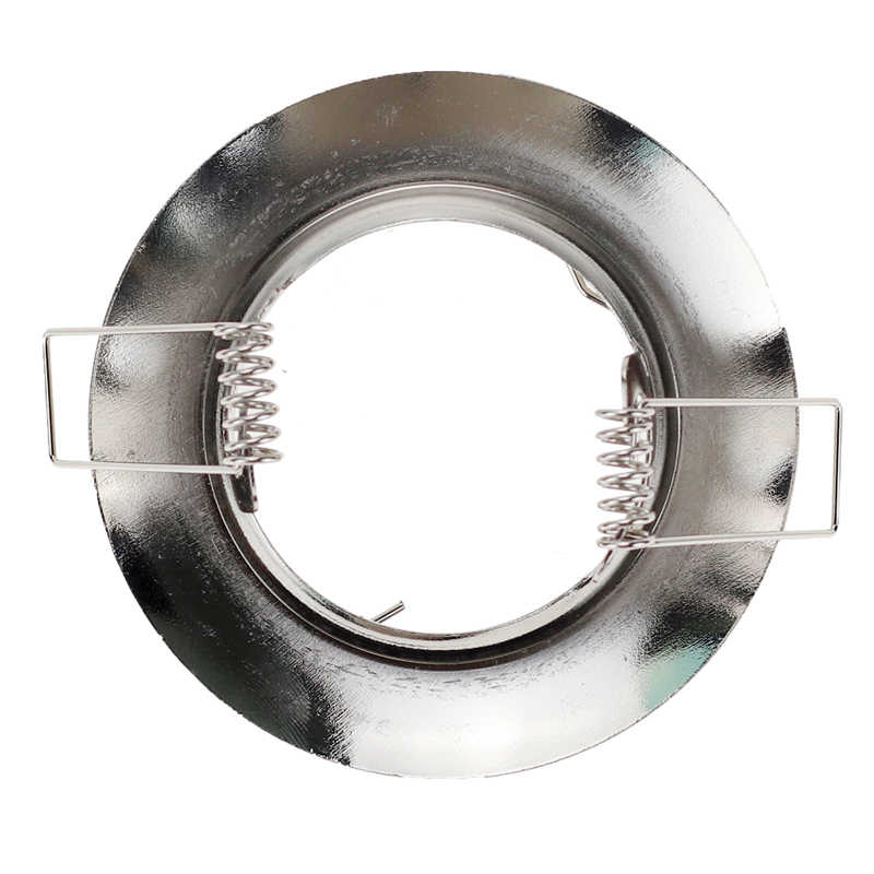 Никелевый Круглый Встраиваемый светодиодный потолочный светильник регулируемая рама MR16 GU10 лампа светильник держатель
