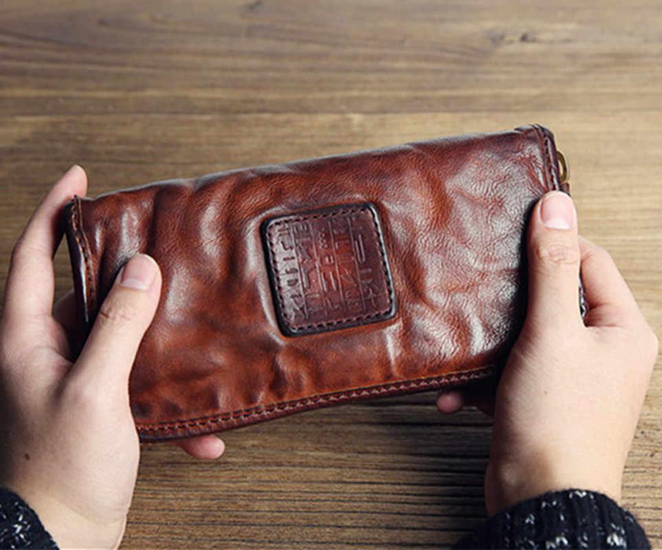 GUMST Marke Männer Echtem Rindsleder Kupplung Tasche Business Herren Tasche Große Kapazität Kuh Leder Brieftasche Taschen Männlichen 2019
