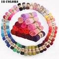 2016 Multicolor de Algodão de Alta Qualidade Doce Cor Suave Xale Feminino Literário Puro Linho Hajibs Muçulmano Cachecóis 18 Cores
