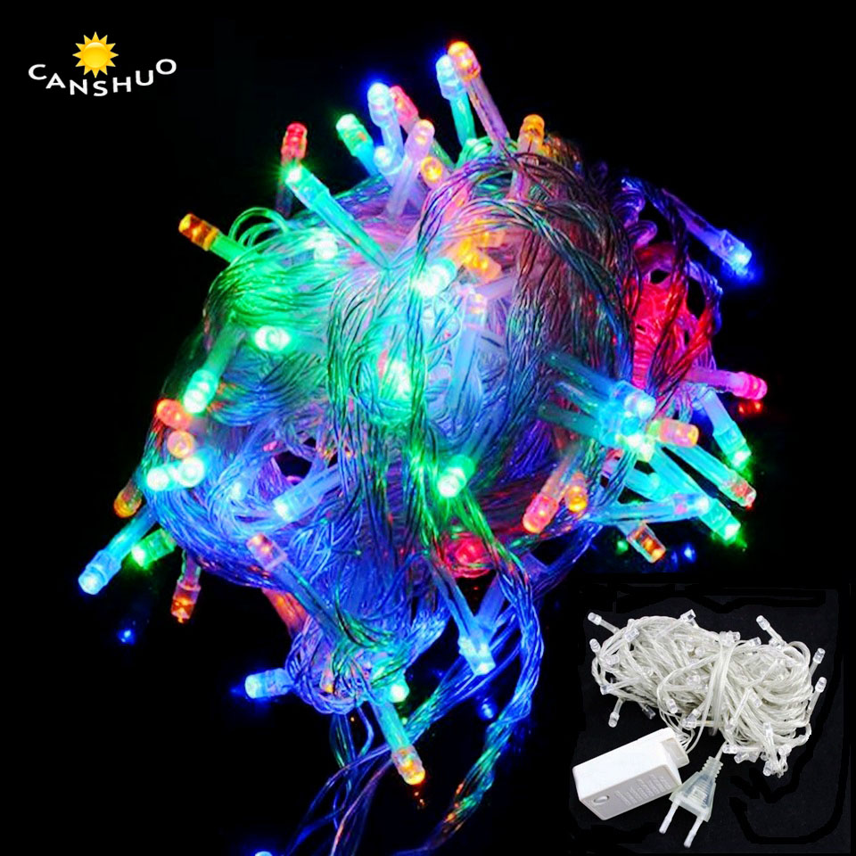 Aspiring Canshuo 10m 20m 50m 100m Ac220v 110v 8 Modes Controller Led String Lights For Xmas Garland Party Wedding Decoration Fairy Lights Great Varieties Led String