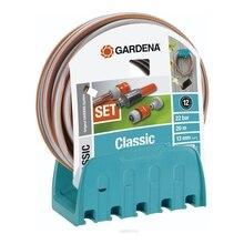 Набор поливочный GARDENA 18005-20.000.00 (Шланг 20 метров 13 мм 1/2дюйма , настенный кронштейн, коннектор с автостопом)