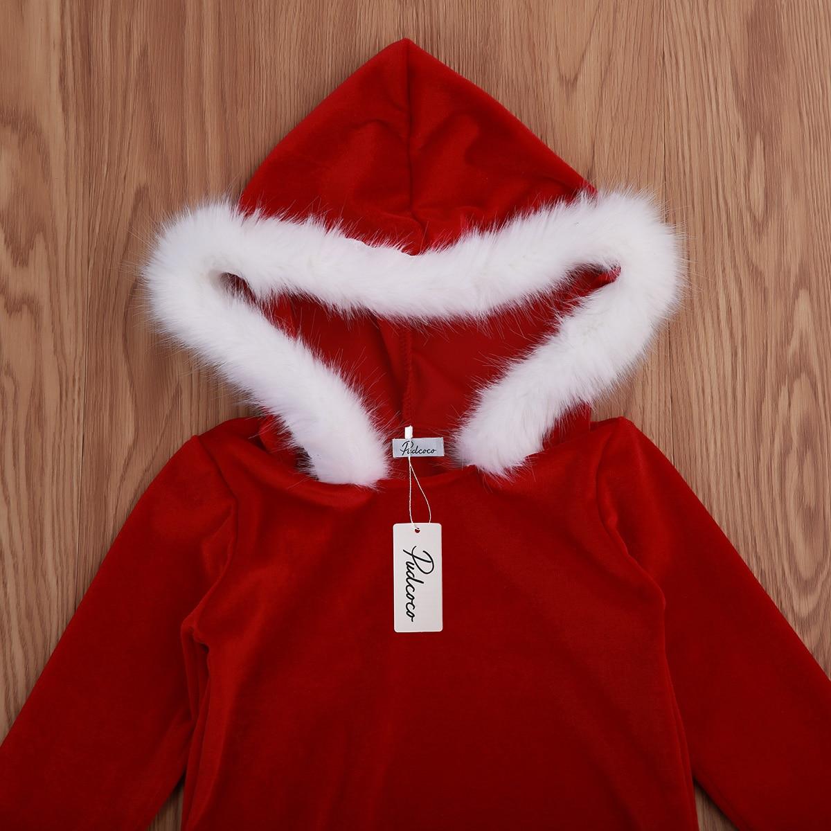 cd5b3da70 Christmas Winter Infant Baby Girl Fleece Romper Hooded Jumpsuit ...