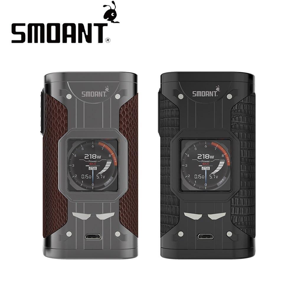 Original Smoant Cylon 218 W TC Box MOD alimenté par double 18650 cellules cuisson rapide et mis à jour Ant218 V2 Chipse Ecig Vape Mod VS glisser 2