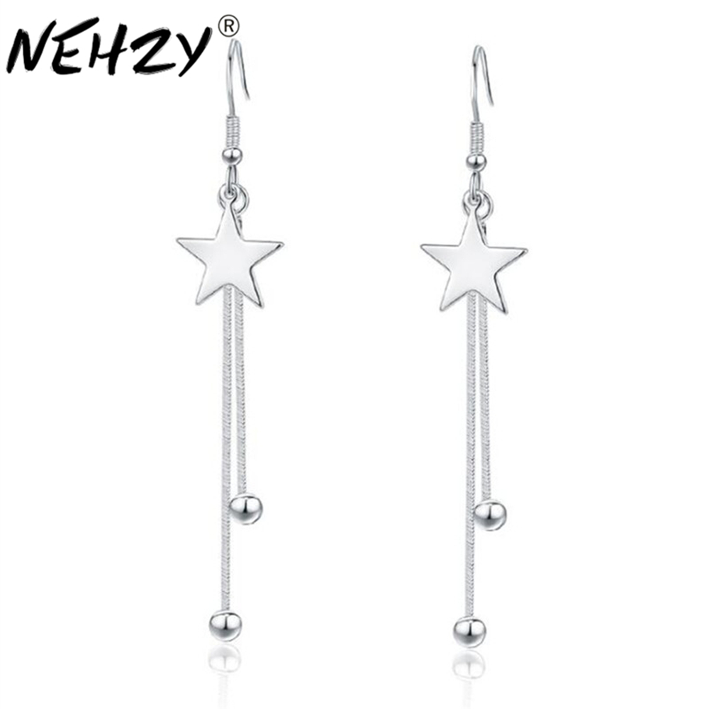 NEHZY 925 sterling silver new Jewelry New Woman Jewellery long fringe Drop Earrings fashion earrings brand fashion exaggerated