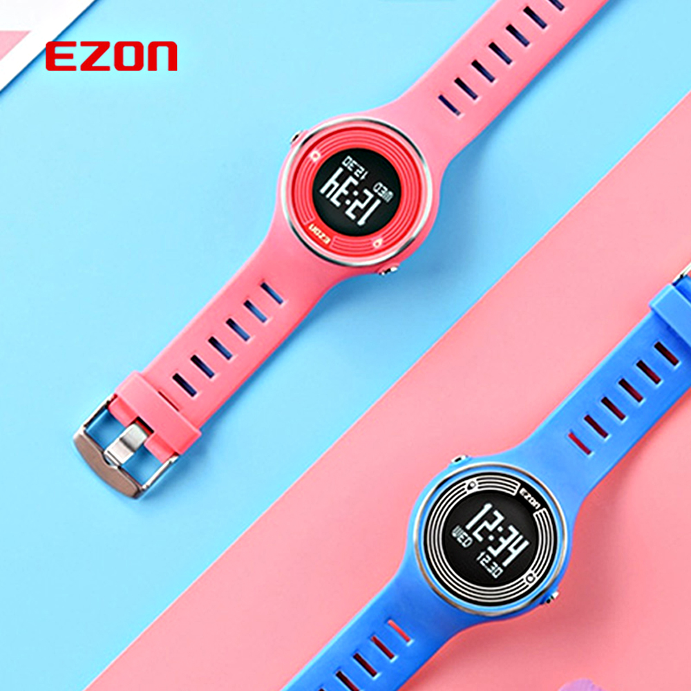 EZON S1 Men Women Watch Casual Fashion Ladies Gift Wrist Watch Pedometer Calories Counter Bluetooth Smart Digital Watches Hours hot brand ezon s2 fitness pedometer watch walking calorie counter sport digital watch bluetooth smart wrist watch for phone
