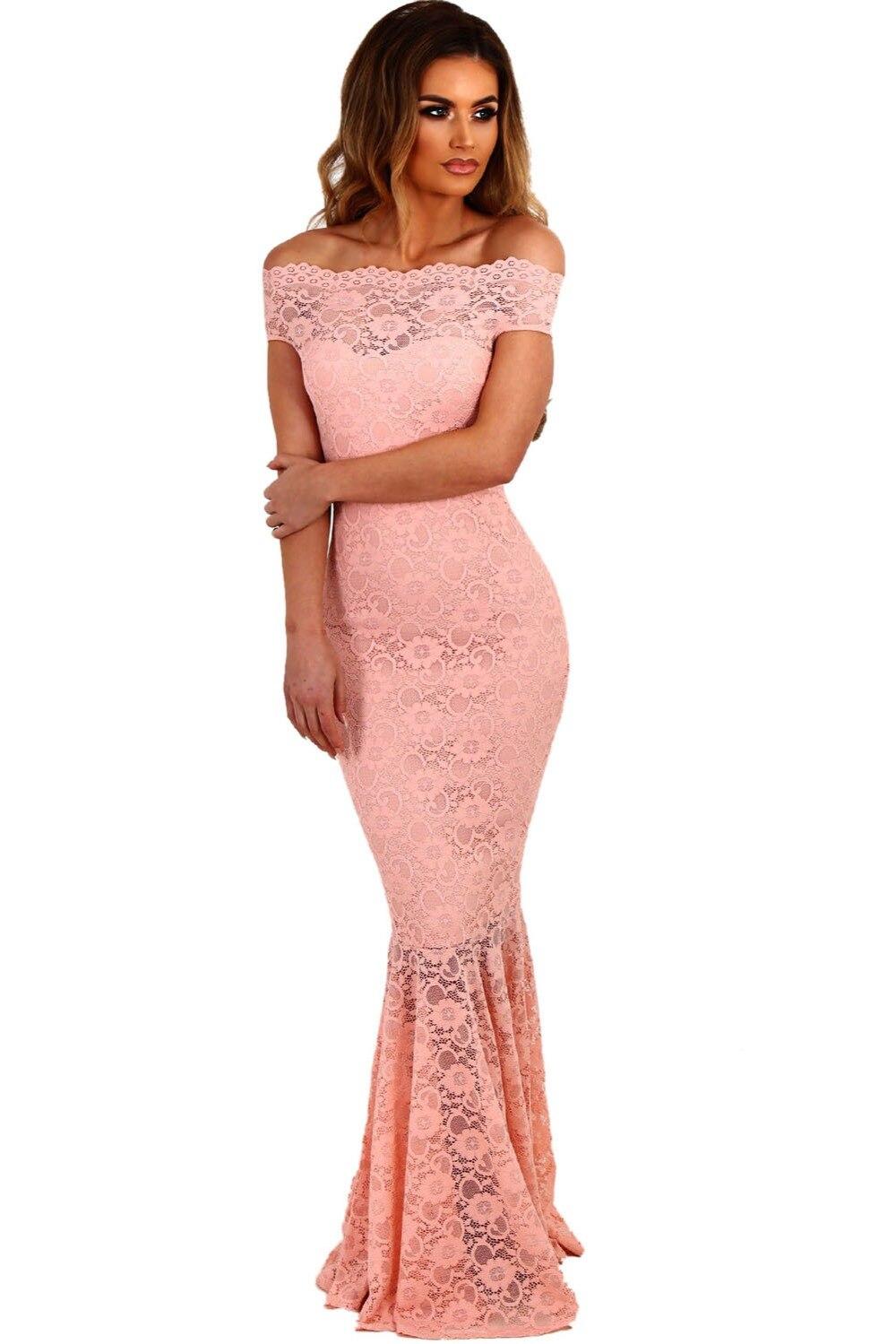 Navy short lace mini summer dress dresses elegant party vestidos brand - Women Lace Dresses Party Gowns Sexy Off Shoulder Ladies Robe De Soiree Navy Fishtail Maxi Dress