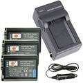 DSTE 3pcs NP-FW50 Battery + Travel and Car Charger For Sony NEX-5 NEX-5A  NEX-5C NEX-5D NEX-5DB NEX-5HB Camera